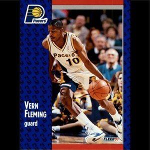 1991-92 Fleer Basketball #81 Vern Fleming